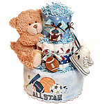 Future All Star Football Diaper Cake