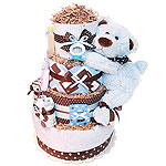 Mr Bear Diaper Cake