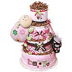 LadyBug Baby Diaper Cake