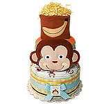 Banana Monkey Diaper Cake