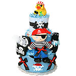 Ahoy! Pirate Diaper Cake for a Boy