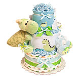 Little Dino Big Dino Diaper Cake