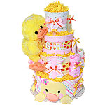 Big Pink Duck Diaper Cake