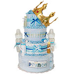 Handsome Prince Diaper Cake