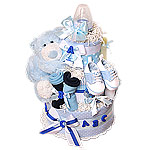 ABC Blue Bear Diaper Cake
