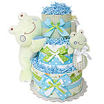Little Cutie Frog Diaper Cake
