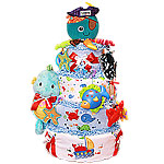 Captain Calamari Diaper Cake
