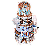 "Custom ""B"" is for a Boy Diaper Cake"