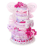 Fuchsia Magic Butterfly Diaper Cake
