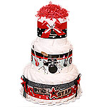 Rock Star Decoration Diaper Cake for a Boy