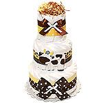 Farm Cow Decoration Diaper Cake