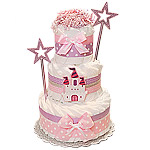 Princess Castle Decoration Diaper Cake