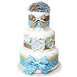 Stars and Train Decoration Diaper Cake