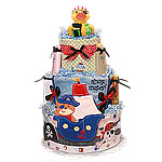 Ahoy Matey! Pirate Diaper Cake for a Boy