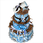 """B"" is for a Boy! Diaper Cake"