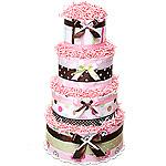 Custom Diaper Cake with Blankets