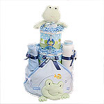 Frog Diaper Cake for a Boy!