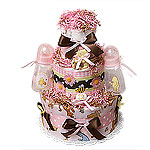 Classic Pooh Girl Diaper Cake