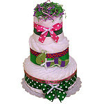Wiggly Worm Decoration Diaper Cake