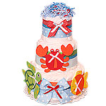 Sea Animals Decoration Diaper Cake