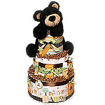 Forest Bear Diaper Cake