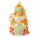 Green and Yellow Duck Diaper Cake