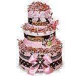 Monkey Girl Custom Diaper Cake