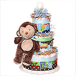 Monkey Boy Diaper Cake