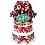 Night Owl Diaper Cake