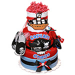Captain Chaos Pirate Diaper Cake