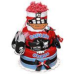 Captain Chaos Pirate Diaper Cake