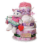 PlayTime Kitty Diaper Cake