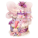 Lavender Magic Butterfly Diaper Cake