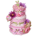 It's a Girl Bugs Custom Diaper Cake