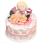 Little Pink Duck Diaper Cake