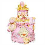 Splash! Splash! Duck Diaper Cake for a Girl