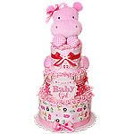Jungle Musical Hippo Diaper Cake