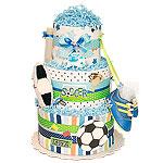 KICK! Soccer Diaper Cake