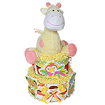 Fisher Price Giraffe Diaper Cake