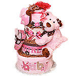 LadyBug and a Bear Diaper Cake