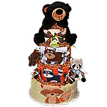 Forest Friends Diaper Cake