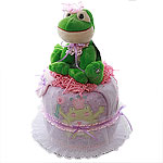 Princess Frog Diaper Cake
