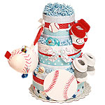 Future All Star Baseball Diaper Cake