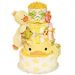 Bath Garden Duck Girl Diaper Cake