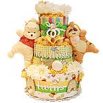 Custom Pooh and Tigger Diaper Cake
