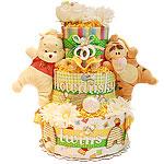 Custom Pooh and Tigger Diaper Cake