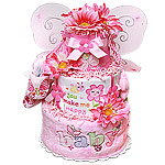 """You Make Me Happy"" Butterfly Diaper Cake"