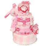Flower Bunny Diaper Cake
