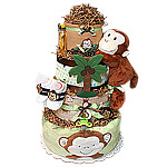 Jungle Cute Monkey Diaper Cake