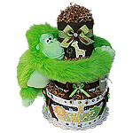 Green Monkey Jungle Animals Diaper Cake